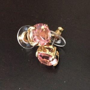 Late Spade Pink Stone Studs